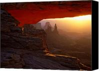 Mesa Arch Canvas Prints - Canyonlands sunrise Canvas Print by Johan Elzenga