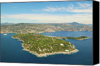 Jean Canvas Prints - Cap-ferrat Canvas Print by Cranjam
