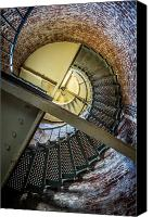Spiral Staircase Canvas Prints - Cape Blanco Lighthouse 2 Canvas Print by Randy Wood