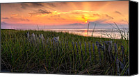 Race Point Canvas Prints - Cape Cod Bay Sunset Canvas Print by Bill  Wakeley
