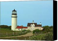 New England Canvas Prints - Cape Cod Highland Lighthouse Canvas Print by Juergen Roth