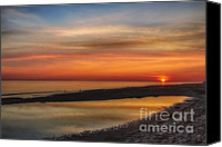 Cape Cod Scenery Canvas Prints - Cape Cod Sunrise Canvas Print by Susan Candelario