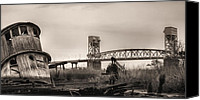 Ship Wreck Canvas Prints - Cape Fear Memorial Bridge Canvas Print by JC Findley