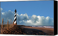 Lighthouses Canvas Prints - Cape Hatteras Light Canvas Print by Skip Willits
