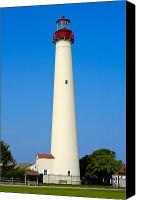 Lighthouses Canvas Prints - Cape May Lighthouse Canvas Print by Anthony Sacco