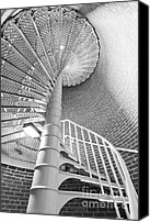 Spiral Staircase Canvas Prints - Cape May Lighthouse Stairs Canvas Print by Dustin K Ryan