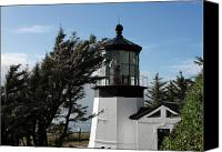 Light Canvas Prints - Cape Meares Lighthouse near Tillamook on the scenic Oregon Coast Canvas Print by Christine Till