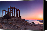 Acropolis Canvas Prints - Cape Sounion Canvas Print by Emmanuel Panagiotakis