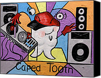 Edition Mixed Media Canvas Prints - Caped Tooth Canvas Print by Anthony Falbo