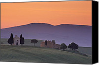 Capella Canvas Prints - Capella Vitaleta and Farmhouse Canvas Print by Andrew Soundarajan