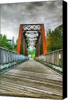 Jogging Canvas Prints - Caperton Trail and Bridge Canvas Print by Steven Ainsworth