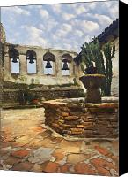 Mission Bells Canvas Prints - Capistrano Fountain Canvas Print by Sharon Foster