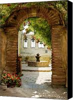 Mission Bells Canvas Prints - Capistrano Gate Canvas Print by Sharon Foster
