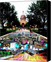 Joey Canvas Prints - Capital Collage Austin Music Canvas Print by James Granberry