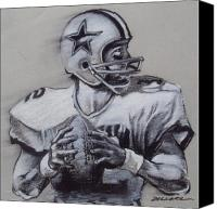 Dallas Cowboys Canvas Prints - Capitan America Canvas Print by Jim Wetherington
