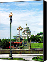 Providence Canvas Prints - Capitol Building Seen from Waterplace Park Canvas Print by Susan Savad