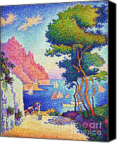 Signac Canvas Prints - Capo di Noli Canvas Print by Pg Reproductions