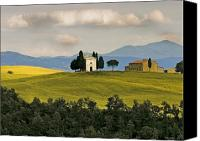 Capella Canvas Prints - Cappella San Quirico d Orcia Canvas Print by Jon Cretarolo