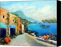 Amalfi Coast Canvas Prints - Capri Fantasies Canvas Print by Larry Cirigliano