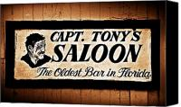 Tony Canvas Prints - Capt. Tonys Saloon - Key West Florida Canvas Print by Bill Cannon