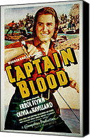 1935 Movies Canvas Prints - Captain Blood, Errol Flynn, 1935 Canvas Print by Everett