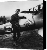 Plane Canvas Prints - Captain Rickenbacker Canvas Print by War Is Hell Store