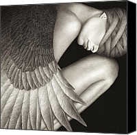 Black And White Canvas Prints - Captivity Canvas Print by Pat Erickson