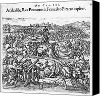 New World Canvas Prints - Capture Of Atahualpa, 1532 Canvas Print by Granger