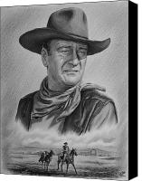 Cowboy Canvas Prints - Captured bw version Canvas Print by Andrew Read