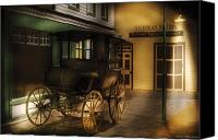 Carriage Canvas Prints - Car - Wagon - The carriage Canvas Print by Mike Savad