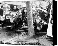 American Car Canvas Prints - CAR ACCIDENT, c1919 Canvas Print by Granger