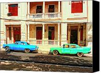 Havana Daydreams Canvas Prints - Car Club Canvas Print by Dominic Piperata