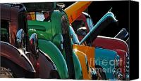 Antiques Digital Art Canvas Prints - Car Show v Canvas Print by Robert Meanor
