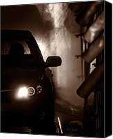 Car Wash Canvas Prints - Car Wash Canvas Print by Bob Orsillo