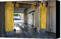 Car Wash Canvas Prints - Car Wash Interior Canvas Print by Jaak Nilson