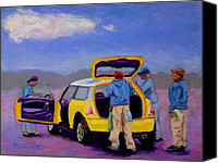 Wash Pastels Canvas Prints - Car Wash Canvas Print by Marion Derrett