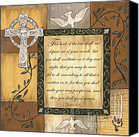 Dove Canvas Prints - Caramel Scripture Canvas Print by Debbie DeWitt