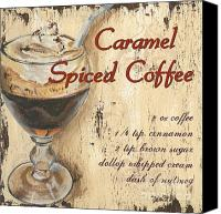 Coffee Cup Canvas Prints - Caramel Spiced Coffee Canvas Print by Debbie DeWitt