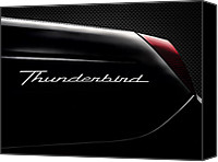 Thunderbird Canvas Prints - Carbon Black Thunder Canvas Print by Douglas Pittman