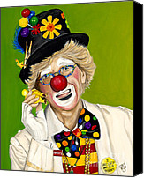 Giggling Canvas Prints - Careful the Clown Canvas Print by Patty Vicknair