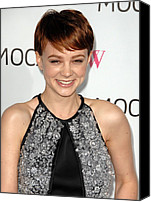 Carey Mulligan Canvas Prints - Carey Mulligan Wearing A Prada Dress Canvas Print by Everett