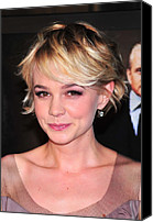 Carey Mulligan Canvas Prints - Carey Mulligan Wearing Fred Leighton Canvas Print by Everett