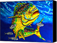 Fish Canvas Prints - Caribbean Bull Canvas Print by Daniel Jean-Baptiste