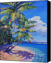 Cuba Painting Canvas Prints - Caribbean Paradise Canvas Print by John Clark