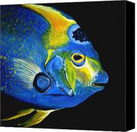 Fish Art Canvas Prints - Caribbean Queen Canvas Print by J Vincent Scarpace