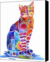 Cats Canvas Prints - Carley Cat Canvas Print by Jo Lynch