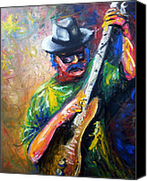 Black Painting Special Promotions - Carlos Santana Canvas Print by Dica Adrian