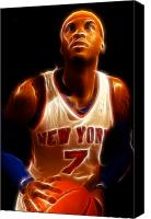 Awards Canvas Prints - Carmelo Anthony - New York Nicks - Basketball - Mello Canvas Print by Lee Dos Santos