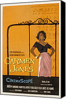 1950s Fashion Canvas Prints - Carmen Jones, Dorothy Dandridge, 1954 Canvas Print by Everett