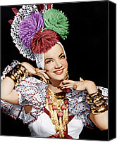 1940s Portraits Canvas Prints - Carmen Miranda, Ca. 1940s Canvas Print by Everett